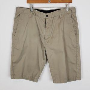 Volcom Tan Khaki Walking Shorts Dress Shorts